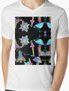 Fairy Celebration Black Background Mens V-Neck T-Shirt