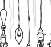 variety light fixtures hanging Sticker