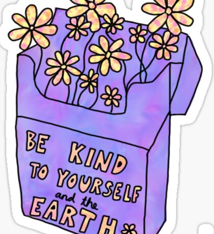 be kind flower cigarette box Sticker