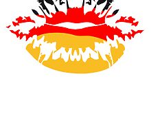 Germany flag football fan kiss by Style-O-Mat