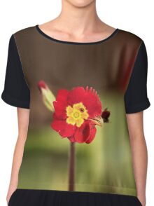 Funny Rooster Flower Chiffon Top