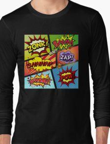 Colorful Comic Book Panels Long Sleeve T-Shirt
