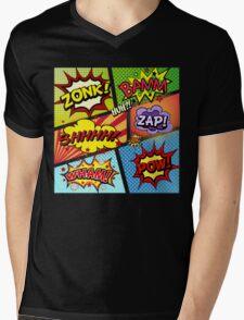 Colorful Comic Book Panels Mens V-Neck T-Shirt