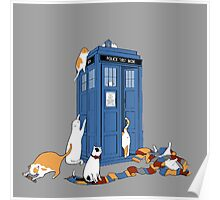 police box cat  Poster