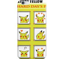 Pokemon Yellow: A Hard Day's Pikachu Full Color iPhone Case/Skin