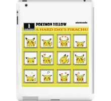 Pokemon Yellow: A Hard Day's Pikachu Full Color iPad Case/Skin