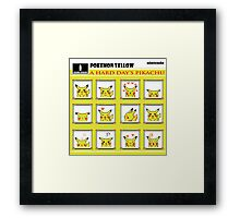 Pokemon Yellow: A Hard Day's Pikachu Full Color Framed Print