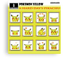 Pokemon Yellow: A Hard Day's Pikachu Full Color Canvas Print