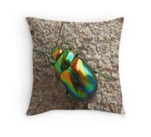 Dogbane Beetle throw pillow Throw Pillow