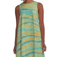 Waves in Sunset  A-Line Dress