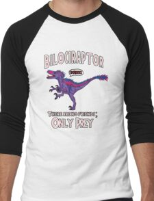 Bilociraptor - Text + Speech Men's Baseball ¾ T-Shirt