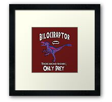 Bilociraptor - Text + Speech Framed Print