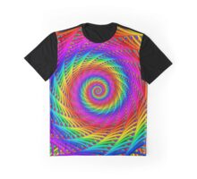 Psychedelic Rainbow Spiral  Graphic T-Shirt