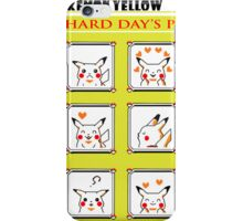 Pokemon Yellow: A Hard Day's Pikachu B&W iPhone Case/Skin