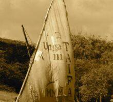 Lamu Island - TAIFA - wooden fishing dhows off Lamu Island - antique Sticker
