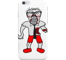 nerd geek hornbrille pickel spange freak schlau glücklicher untoter monster halloween horror comic cartoon design zombie  iPhone Case/Skin