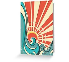 Sunny waves Greeting Card
