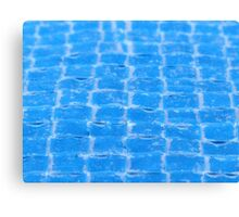 Woven Blue Canvas Print