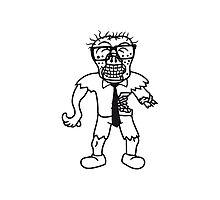 nerd geek hornbrille pickel spange freak schlau glücklicher untoter monster halloween horror comic cartoon design zombie  Photographic Print
