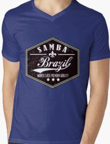 Samba Brazil Mens V-Neck T-Shirt