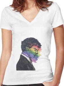 Sherlock True Colors Women's Fitted V-Neck T-Shirt