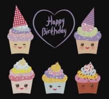 Birthday Card design with Cupcake  Baby Tee
