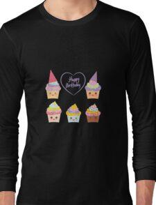Birthday Card design with Cupcake  Long Sleeve T-Shirt