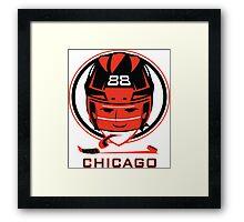 Chicago Hockey T-Shirt Framed Print