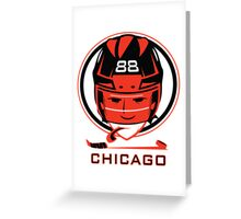 Chicago Hockey T-Shirt Greeting Card