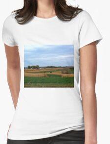 Autumn Wisconsin Farmland Womens Fitted T-Shirt