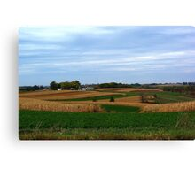 Autumn Wisconsin Farmland Canvas Print