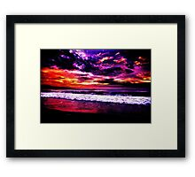Starry Beach Framed Print
