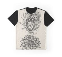 Flaming Lotus Heart - Evolve Love Graphic T-Shirt