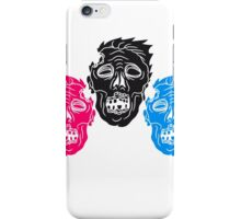 muster design gesichter horror halloween kopf zombie böse gruselig cartoon  iPhone Case/Skin