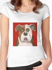 Winston the dog Women's Fitted Scoop T-Shirt