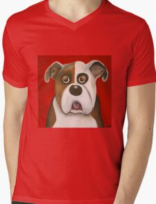 Winston the dog Mens V-Neck T-Shirt