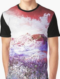 Starry Mountain Scene Graphic T-Shirt