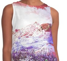 Starry Mountain Scene Contrast Tank