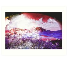 Starry Mountain Scene Art Print