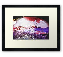Starry Mountain Scene Framed Print
