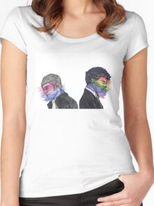 True Colors Sherlock and John Women's Fitted Scoop T-Shirt