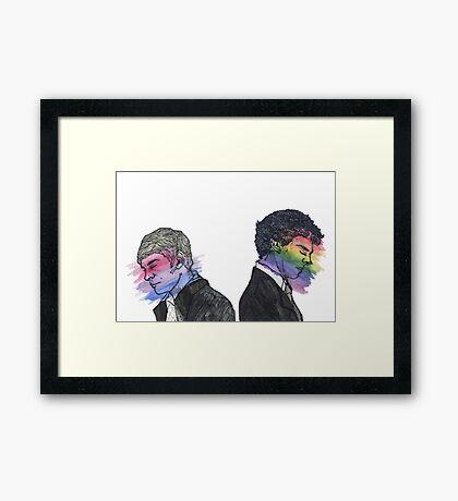 True Colors Sherlock and John Framed Print