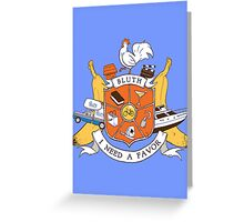 Bluth Family Crest Greeting Card