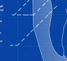 King Penguin Blueprint - Annotated Sticker