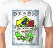Brazil King Of Futebol Unisex T-Shirt