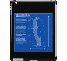 King Penguin Blueprint - Annotated iPad Case/Skin