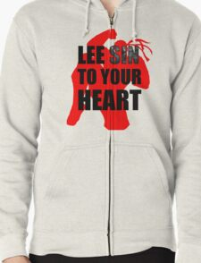 Lee Sin To Your Heart Zipped Hoodie