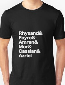 The Night Court Squad (black) Unisex T-Shirt