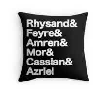 The Night Court Squad (black) Throw Pillow