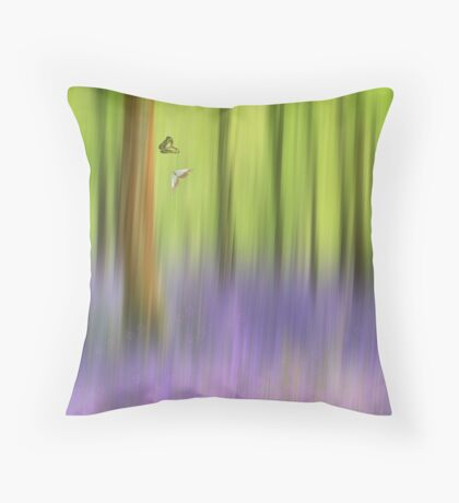 The bluebell wood Throw Pillow